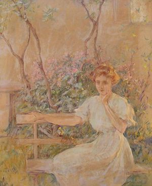 Antique Oil Painting - The GardenSeat