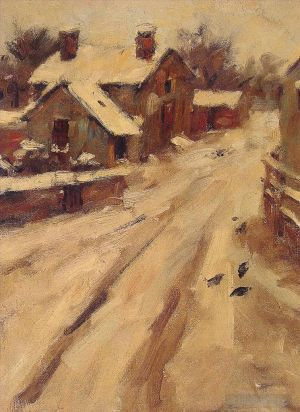 Antique Oil Painting - Country Road