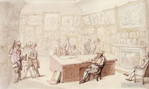 Antique Various Paintings - Mr Michells Picture Gallery At Grove House Enfield