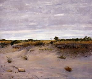 Antique Oil Painting - Wind Swept Sands Shinnecock Long Island